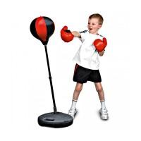 Детский боксерский набор на стойке (груша напольная с перчатками для детей) (MS 0331)