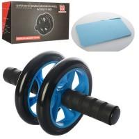 Тренажер колесо для мышц пресса с ковриком Profi (MS_0874)
