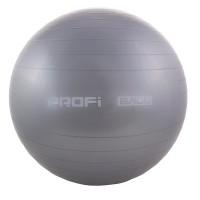 Детский мяч для фитнеса (фитбол) 65 см (глянец, в пакете) Profi (MS 0382) Серый